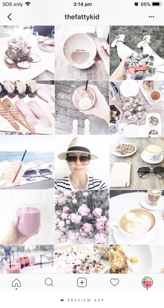 Instagram theme example