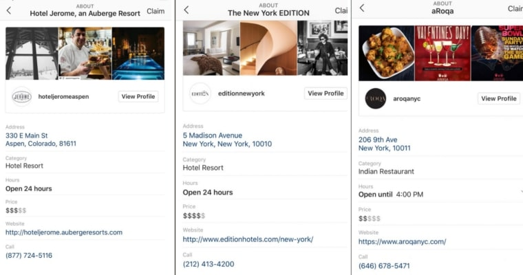 Instagram rolls out business pages