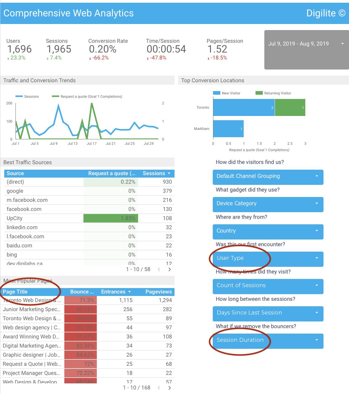 Comprehensive Web Analysis