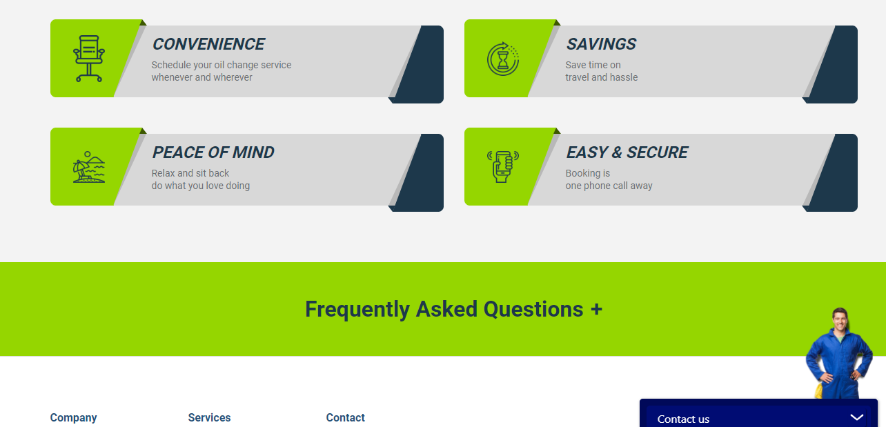 Kambio Website example