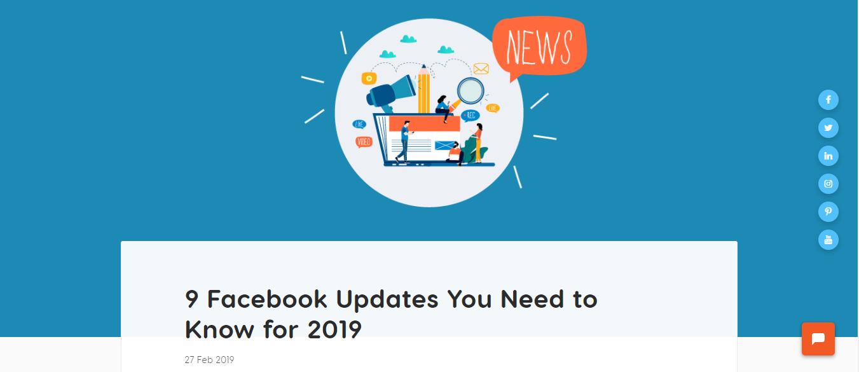 Facebook updates blog