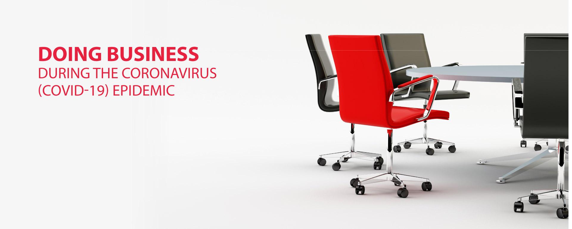 Doing Business During The Coronavirus (COVID-19) epidemic